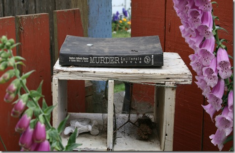 Murder, California Style, book art with Digitalis accent