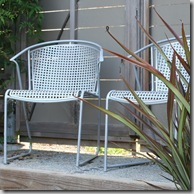 metal chairs in berg garden